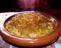 Marockansk maträtt: Rfissa Royaltyfri Fotografi