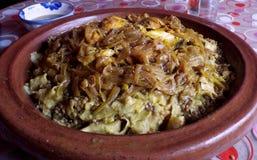Marockansk maträtt: Rfissa Arkivfoton