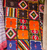 Marockansk matta orientaliska prydnadar för bakgrund Royaltyfri Bild