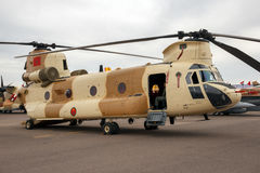 Marockansk militär Chinook helikopter Arkivfoton