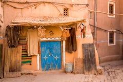 Marockansk synagoga i Medina Ouarzazate arkivbild