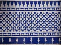 Marockansk Zellige tegelplattamodell Arkivfoto