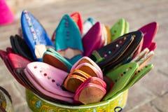 Marockanska handgjorda traditionella skor Royaltyfria Bilder
