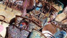 Marockanska handväskor Royaltyfria Foton