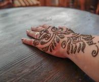 Marockanska Henna Tattoo Royaltyfri Foto