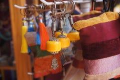 Marockanska keychainsouvenir Arkivbild