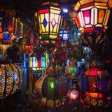 Marockanska lampor Royaltyfri Foto