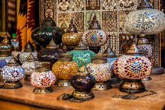 Marockanska lampor arkivfoton