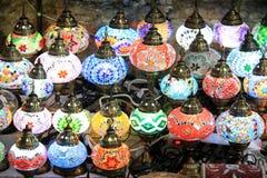 Marockanska lampor Arkivbild
