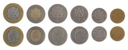 Marockanska mynt som isoleras på White Royaltyfri Bild