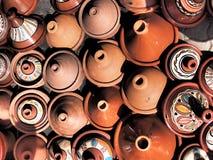 Marockanska tagines Fotografering för Bildbyråer