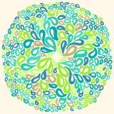 Marockanska tegelplattaprydnader i blått- och vitfärger Arkivfoto