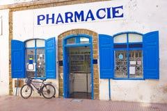 Marockanskt apotek i Marocko Arkivbild