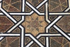 Marockanskt belagt med tegel golv royaltyfri fotografi