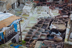Marockanskt läder Arkivfoton