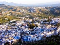Marocko chaouen stadslandsccapenaturen Royaltyfria Foton