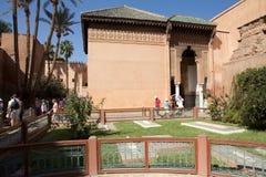 Marocko de Saadian tombsna i Marrakech Arkivbilder