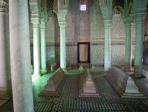 Marocko de Saadian tombsna i Marrakech Royaltyfri Foto