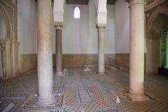 Marocko de Saadian tombsna i Marrakech Royaltyfri Bild