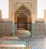 Marocko de Saadian tombsna i Marrakech Arkivbild