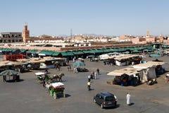 Marocko Jamaa el Fna Marrakesh Arkivbild
