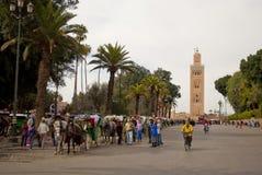 Koutubia moské i Marrakech (Marocko) Arkivfoto