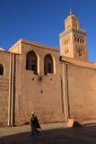 Marocko Marrakesh, Koutoubia moské Arkivbilder
