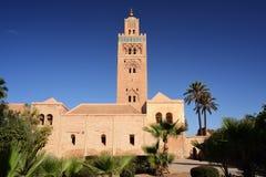 Marocko Marrakesh Koutoubia moské Arkivbilder