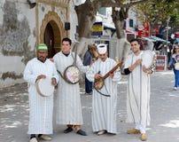 Marocko musiker Royaltyfri Fotografi