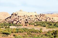Marocko Ouarzazate - Ait Ben Haddou Medieval Kasbah Royaltyfri Fotografi