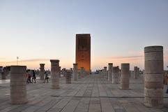 Marocko Rabat, mausoleum av Mohammed V Arkivfoto
