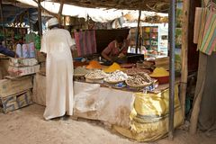 Marocko souk Arkivbild