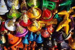 Marocko tajines Arkivfoton