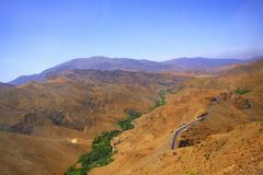 Marocko Toubkal nationalpark, hög kartbok Fotografering för Bildbyråer