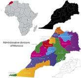 Marocko översikt Royaltyfri Bild