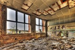 Marode building. Of an old manufacturing site in Berlin Stock Photography