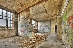 Marode building. Of an old manufacturing site in Berlin Stock Image
