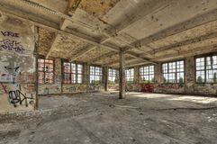 Marode building. Of an old manufacturing site in Berlin Royalty Free Stock Photo