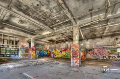 Marode building. Of an old manufacturing site in Berlin Royalty Free Stock Image