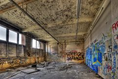 Marode building. Of an old manufacturing site in Berlin Royalty Free Stock Photography
