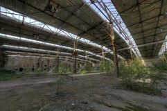 Marode building. Of an old manufacturing site in Berlin Royalty Free Stock Images
