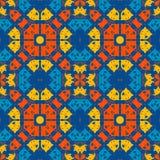 Marokańczyk płytka - bezszwowy ornament na błękitnym tle royalty ilustracja