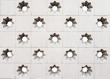 Marokańczyka stylu gwiazda dziurkujący ścienny tło Obraz Royalty Free