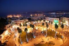 Marokańscy miasta zamieszkujący mieszkanami Andaluzyjski początek fotografia royalty free