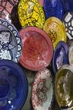 marokańscy talerze Obrazy Royalty Free