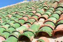Marokańska dachowa płytka w fortecy Essaouira Maroko Obrazy Stock