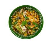 Marokańska marchewki i Chickpea sałatka zdjęcie stock