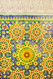 Marokańska mozaiki płytka, ceramiczna dekoracja Hassan II meczet, Casablanca, Maroko zdjęcia stock