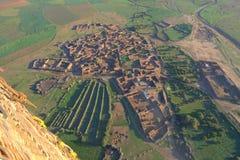 Marokańska wioska przy świtem Zdjęcie Stock
