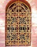Marokański Arabeskowy okno, Marrakech obraz stock